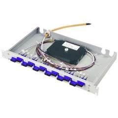 Patchpanel per fibra ottica 6 Porte SC 1 U