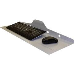 Tastiera e mouse di sostegno Adatto per serie: Universale Argento