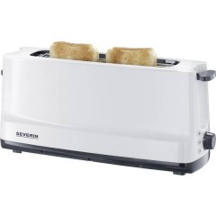 Tostapane lungo Con griglia scaldabriosche integrata Bianco