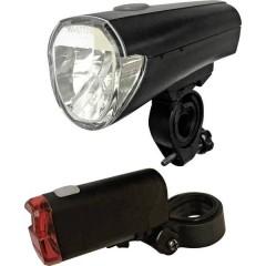 Kit illuminazione bicicletta LED (monocolore) a batteria Nero