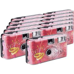 Love Hearts Macchina fotografica usa e getta 11 pz. con flash integrato
