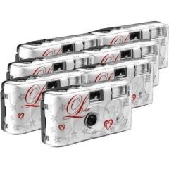 Love White Macchina fotografica usa e getta 7 pz. con flash integrato