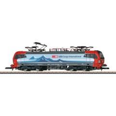 Locomotiva elettrica in scala Z BR E 189 della DB