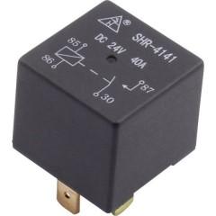 Relè auto 24 V/DC, 40 A, 1 dispositivo di chiusura SHR-4141A SHR-24VDC-F-A, 4 pin