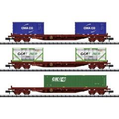 N Kit di carrelli per container di SNCF