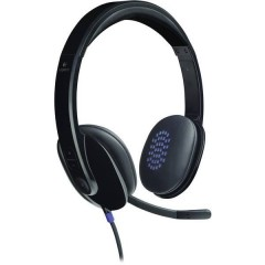 H540 Cuffia Headset per PC USB Filo, Stereo Cuffia On Ear Nero