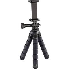 Flex Ministativo 1/4 pollice Altezza operativa=7 - 14 cm Nero per smartphone e GoPro