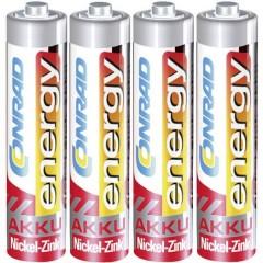 HR03 Batteria ricaricabile Ministilo (AAA) NiZn 550 mAh 1.6 V 4 pz.