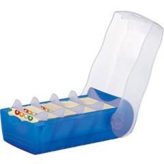 CROCO Scatola schedario Blu, Translucido Numero max. di schede: 500 Schede DIN A8 orizzontale incl. 100
