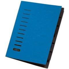 Cartellina con divisori Blu DIN A4 Cartone truciolato Numero scomparti: 7