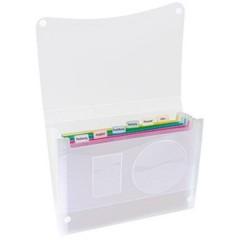 Borsa porta documenti a soffietto DIN A4 Numero scomparti:7 Translucido 1 pz.