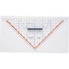Squadra da disegno tecnico Trasparente Lunghezza ipotenusa: 25 cm