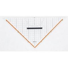 Squadra da disegno tecnico Trasparente Lunghezza ipotenusa: 32.5 cm