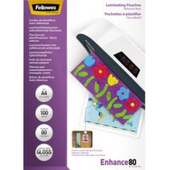 Pellicola per plastificazione DIN A4 80 micron lucida 100 pz.