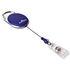 JOJO STYLE - 8324 Chiocciola Yo-Yo per portabadge fascetta con bottone Blu scuro 0.8 m 10 Pz/Conf 10 pz.