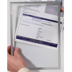 Porta documenti Grigio DIN A4