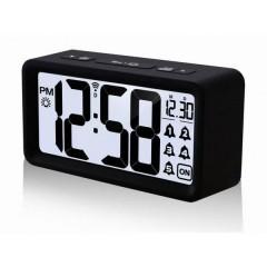Radiocontrollato Sveglia Nero Tempi di allarme 5