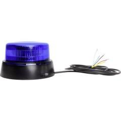Luce a tutto tondo W126 Double Flash 12 V, 24 V via rete a bordo Montaggio a vite Blu