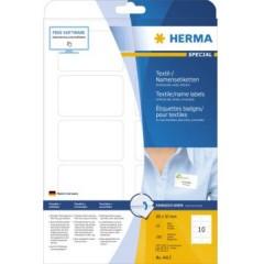 Etichette 80 x 50 mm Seta allacetato Bianco 250 pz. Staccabile Etichetta per nome, Etichetta per tessuti,
