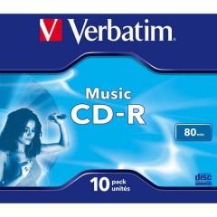 CD-R vergine 10 pz. Jewel case