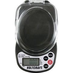 Bilancia tascabile Portata max. 500 g Risoluzione 0.05 g a batteria Nero