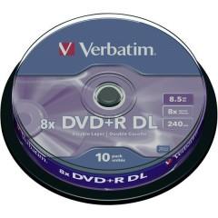 DVD+R DL vergine 8.5 GB 10 pz. Torre