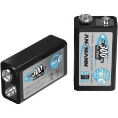 maxE 6LR61 Batteria ricaricabile da 9 V NiMH 300 mAh 8.4 V 1 pz.