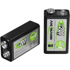 maxE 6LR61 Batteria ricaricabile da 9 V NiMH 200 mAh 8.4 V 1 pz.