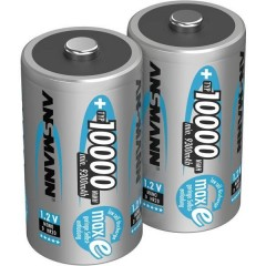 maxE Batteria ricaricabile Torcia (D) NiMH 10000 mAh 1.2 V 2 pz.