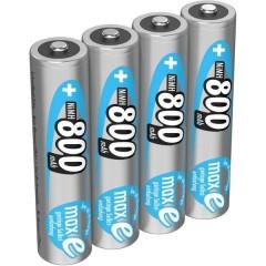 maxE HR03 Batteria ricaricabile Ministilo (AAA) NiMH 800 mAh 1.2 V 4 pz.