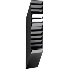 FLEXXIBOXX 12 A4 Porta depliant Nero DIN A4 verticale Numero scomparti 12 1 pz. (L x A x P) 240 x