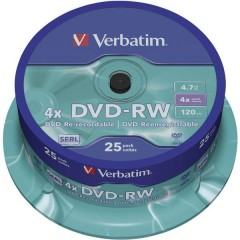 DVD-RW vergine 4.7 GB 25 pz. Torre riscrivibile
