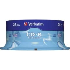 CD-R 80 vergine 700 MB 25 pz. Torre