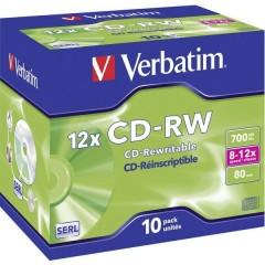 CD-RW vergine 700 MB 10 pz. Jewel case riscrivibile