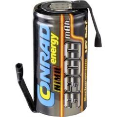 Batteria ricaricabile a cella singola NiMH Sub-C 1.2 V 3300 mAh con linguette a saldare