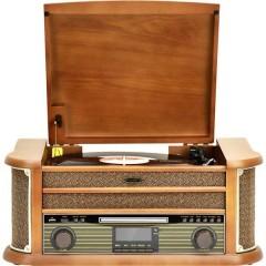 Sistema stereo AUX, Bluetooth, CD, DAB+, Cassette, Giradischi, FM, USB, WLAN, funzione di
