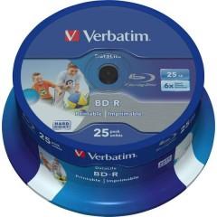 Blu-ray BD-R SL vergine 25 GB 25 pz. Torre stampabile , Rivestimento antigraffio