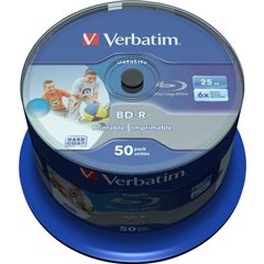 Blu-ray BD-R SL vergine 25 GB 50 pz. Torre stampabile