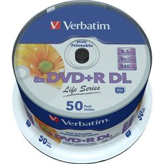 DVD+R DL vergine 8.5 GB 50 pz. Torre stampabile