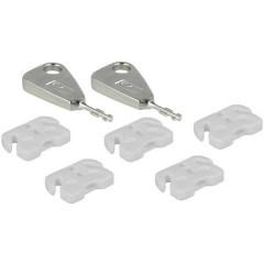 Blocco porta USB Kit da 5 Bianco incl. 2 chiavi