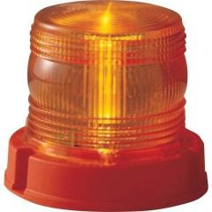 Luce a tutto tondo 12 V, 24 V via rete a bordo Montaggio a vite Arancione