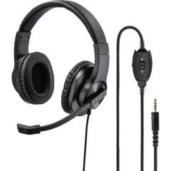 Cuffia Headset per PC Jack 3,5 mm Filo, Stereo Cuffia On Ear Nero