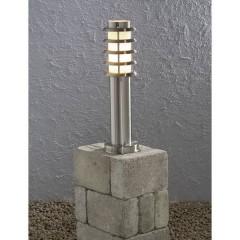 Trento Lampada da terra per esterni Lampada a risparmio energetico E27 11 W acciaio inox