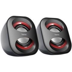 Sonic Mobil 183 2.0 Altoparlante per PC Cablato 3 W Nero, Rosso