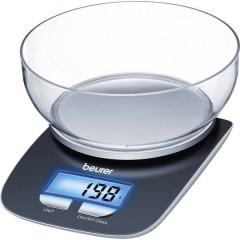 KS25 Bilancia da cucina digitale digitale, con contenitore di misurazione Portata max.=3 kg Nero