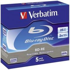 Blu-ray BD-RE vergine 25 GB 5 pz. Jewel case