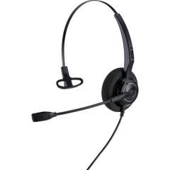 AH 11 G Cuffia telefonica Spina RJ9 Filo Cuffia On Ear Nero