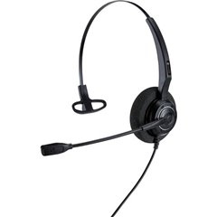 AH 11 U Cuffia telefonica USB Filo Cuffia On Ear Nero
