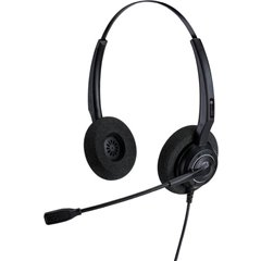 AH 12 U Cuffia telefonica USB Filo Cuffia On Ear Nero