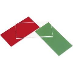 Lastra di vetro acrilico (L x L) 100 mm x 50 mm Spessore materiale 3 mm Rosso 1 pz.